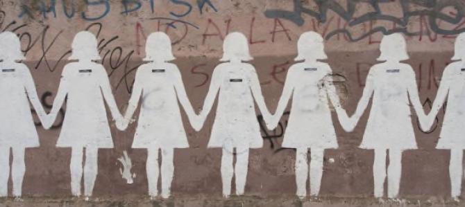 Una immagine evocativa delle vittime di violenza sulle donne
