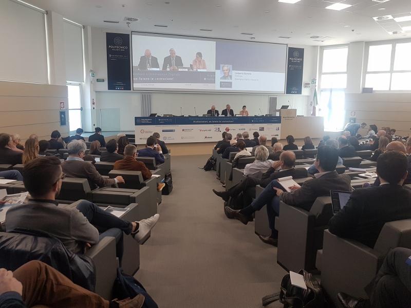La sala del convegno Professionisti e innovazione digitale Milano, aprile 2018