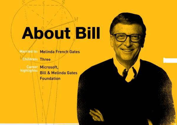 Foto di Bill Gates, tratta dal suo blog personale