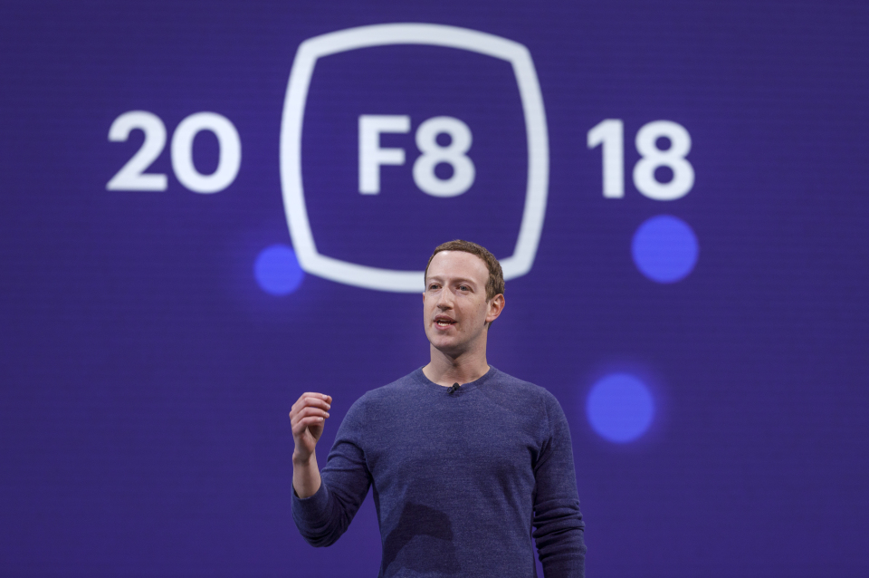 Mark Zuckeberg al F8 day
