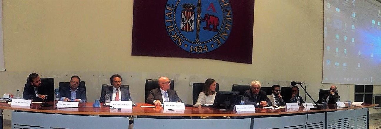 Tavolo dei relatori al convegno di Catania Ex Machina 3_10_2018