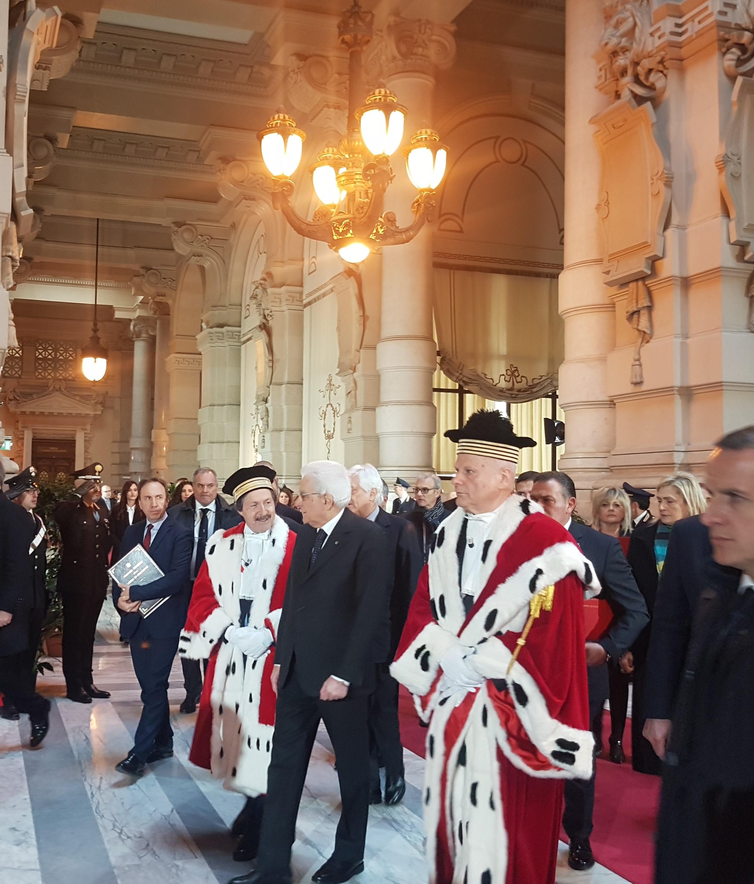 Nella foto il Presidente della Repubblica in Corte di Cassazione