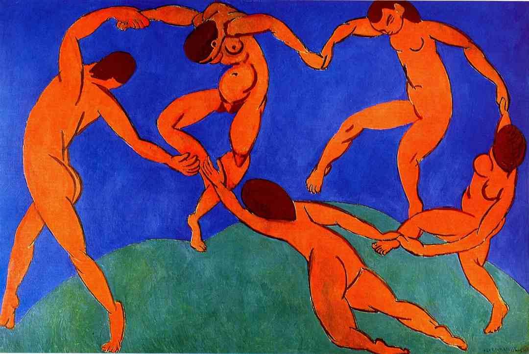 La danza di Matisse in sfondo verde e blue qui significa la capacità di comunicare nel rispetto dei principi di efficienza e sostenibilità